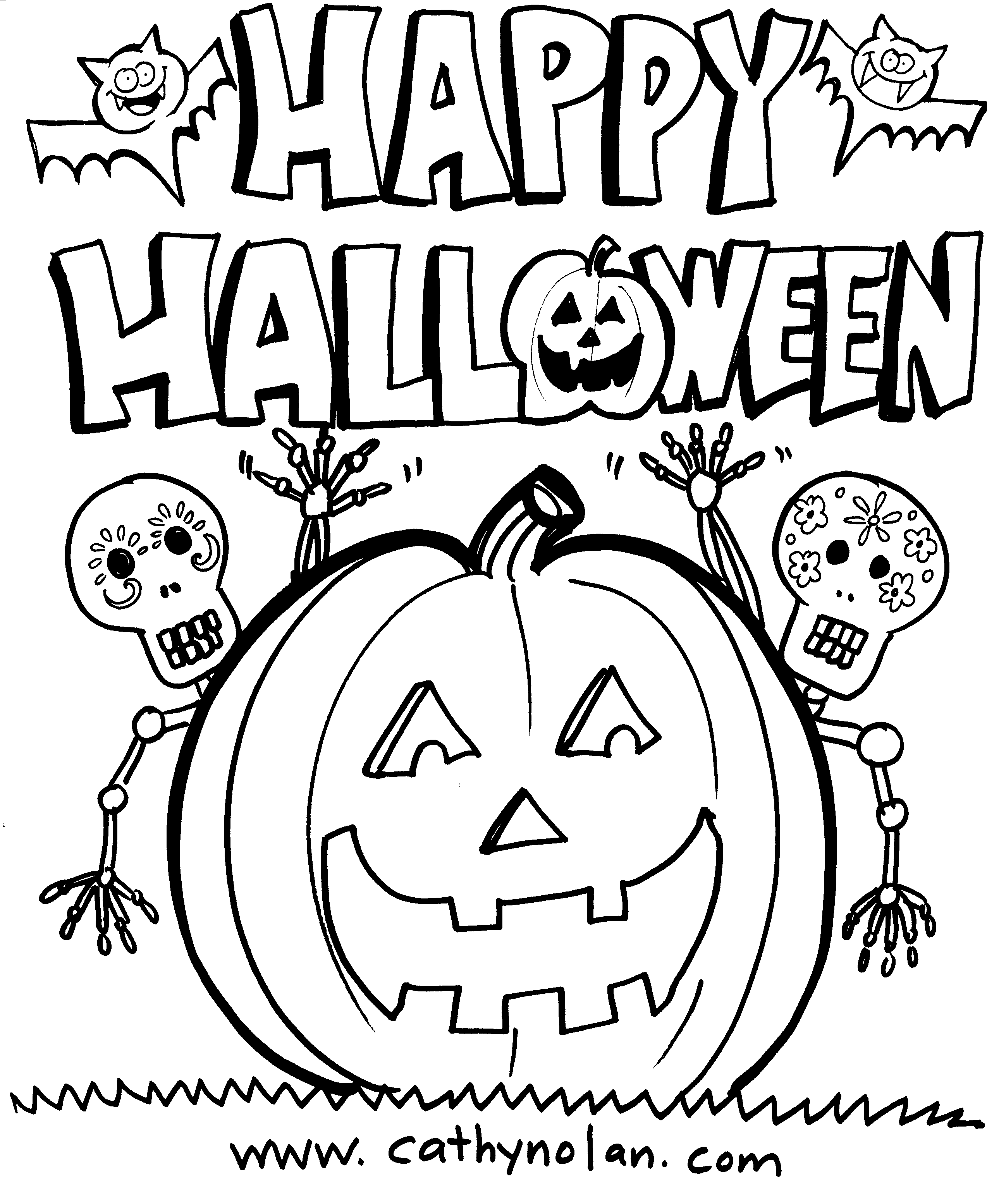 - Downloadable Happy Halloween Coloring Sheets For The Kids! CATHY