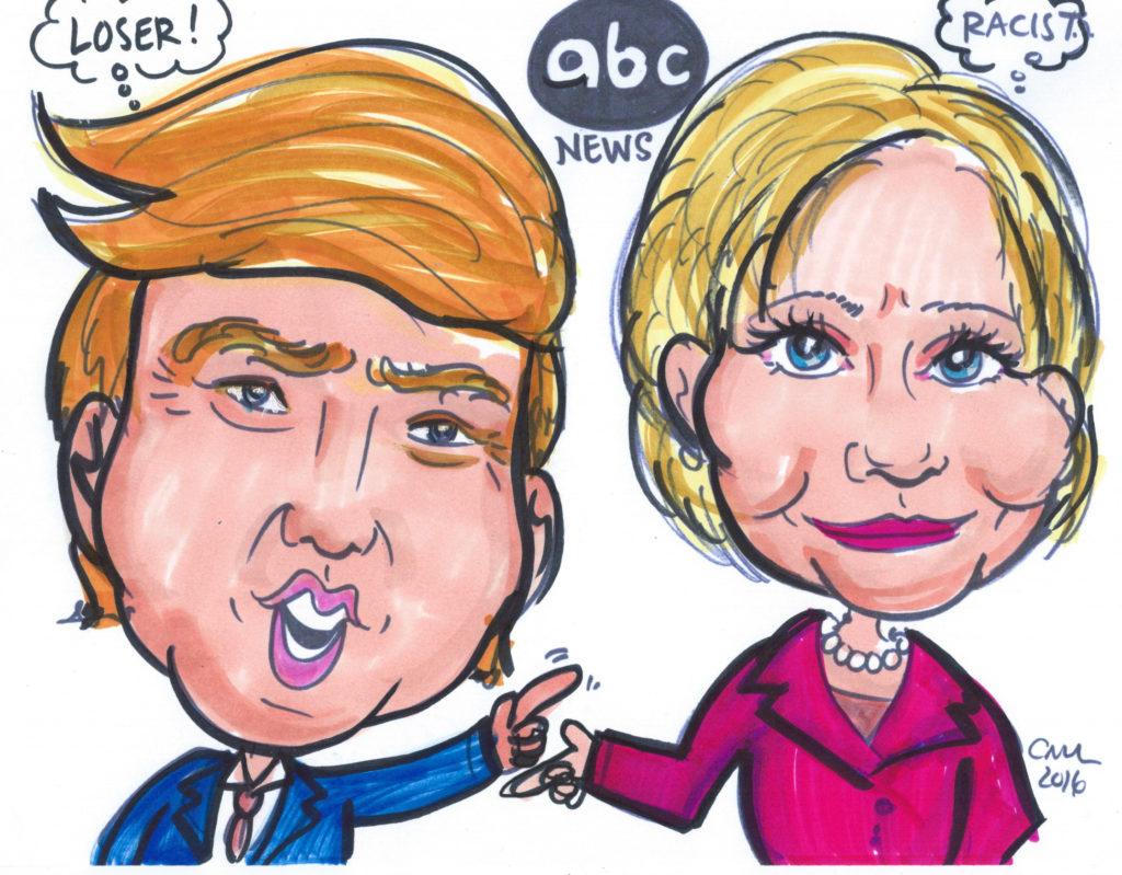 Donald Trump debates Hillary Clinton